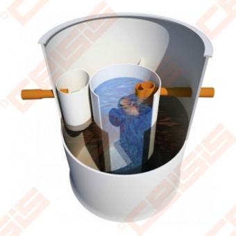 Biologinis buitinių nuotekų valymo įrenginio komplektas AUGUST ATCP-6, našumas 0,9 m³/d, orapūtė komplekte