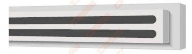 Difuzorius plyšinis priglaistomas VENTMANN LINE dviejų plyšių 18mm, L-1250