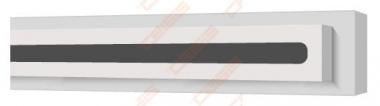 Difuzorius plyšinis priglaistomas VENTMANN LINE vieno plyšio 18mm, L-625