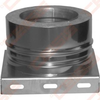 Dvisienė (izoliuota) nerūdijančio plieno atraminė plokštė su apatiniu kondensato nuvedimu JEREMIAS DW05 Dn100