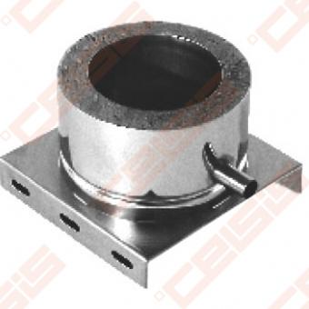 Dvisienė (izoliuota) nerūdijančio plieno atraminė plokštė su šoniniu kondensato nuvedimu JEREMIAS DW06 Dn100