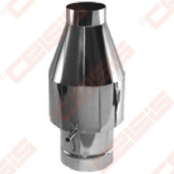 Dvisienis (izoliuotas) nerūdijančio plieno dūmtraukio antgalis (defletorius) JEREMIAS DW34 Dn100