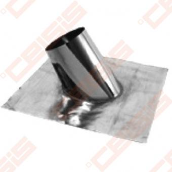 Nerūdijančio plieno perėjimas (su švinine-elastinga plokšte) per nuožulnų 16 - 25° stogą JEREMIAS DW59 Dn100 (+ rozetė apdailai DW31)