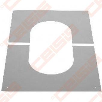 Nerūdijančio plieno apdailinė rozetė nuožulnioms 31-45° luboms JEREMIAS DW98V Dn500