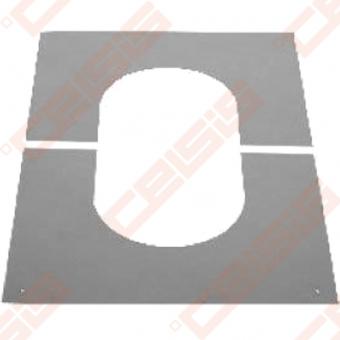 Nerūdijančio plieno apdailinė rozetė nuožulnioms 0-30° luboms JEREMIAS DW99V Dn500