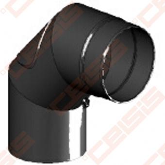 Vienasienė juodo plieno nereguliuojama su pravala 90° alkūnė JEREMIAS Ferro1407 Dn120