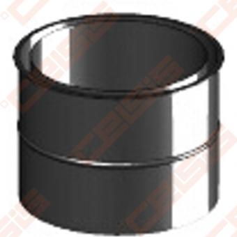 Vienasienė juodo plieno sieninė apdaila JEREMIAS Ferro1413 Dn120