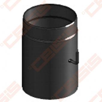 Vienasienis juodo plieno dūmtraukis su užsklanda JEREMIAS Ferro1418 Dn120x0,3m