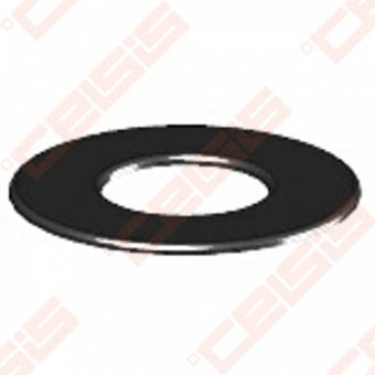 Vienasienė juodo plieno sieninė rozetė JEREMIAS Ferro1422 Dn120