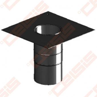 Vienasienė juodo plieno jungtisper stogą (kvadratinė) JEREMIAS Ferro1463 Dn120