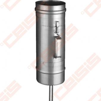 Vienasienė nerūdijančio plieno pravala JEREMIAS FU01+07 Dn100 su durelėmis (210 x 140mm) ir kondensato surinkėju