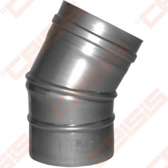 Vienasienė nerūdijančio plieno reguliuojama 0 - 30° alkūnė JEREMIAS FU20E Dn100