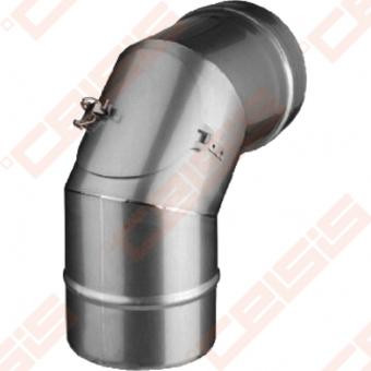 Vienasienė nerūdijančio plieno nereguliuojama su pravala 90° alkūnė JEREMIAS FU23 Dn100