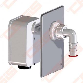 Potinkinis sifonas indaplovėms arba skalbimo mašinoms su išimama kasete. Galimybė pajungti nuotekas iš vieno įrenginio (pvz indaplovė arba skalbimo mašina). Montuojamas į HL4000-0