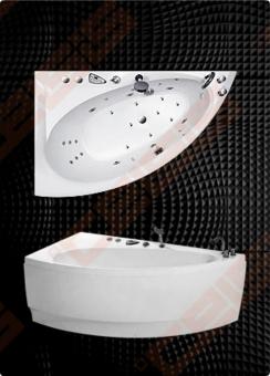 Vonia BALTECO Idea 149x91 cm dešinė, S1 be masažo, su apdaila E15