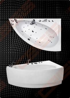 Vonia BALTECO Idea 170x100 cm kairė, su oro ir vandens masažu Combi S4 su apdaila E16