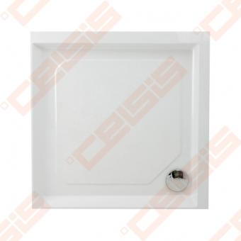 Dušo padėklas PAA CLASSIC 90x90 su panele ir kojelėmis, baltas