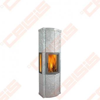 Muilo akmens krosnis NORSK KLEBER MERETHE PLUS, su dviem šoniniais stiklais