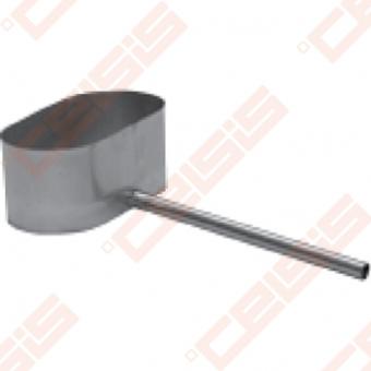 Vienasienis nerūdijančio plieno kondensato surinkėjas JEREMIAS OV/EW01 Dn100 x 180 su šoniniu 250mm išleidimo vamzdeliu
