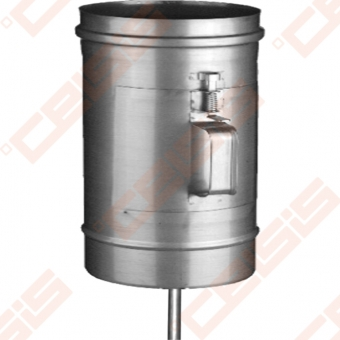 Vienasienė nerūdijančio plieno pravala JEREMIAS OV/EW01+07 Dn100 x 180 su durelėmis (210 x 140mm) ir kondensato surinkėju