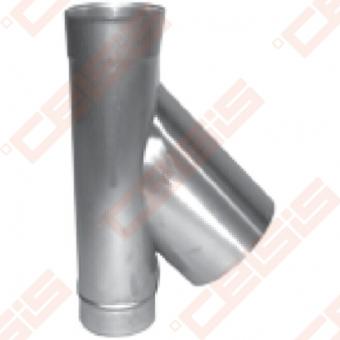 Vienasienis nerūdijančio plieno 45° trišakis JEREMIAS OV/EW16 Dn100 x 180