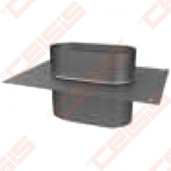 Vienasienė nerūdijančio plieno kamino šachtos uždanga JEREMIAS OV/EW26 Dn100 x 180