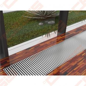 LICON grindininis konvektorius su tangentiniu ventiliatoriumi PKOC 1200x80x280 (profilis sidabro arba bronzos spalvos)