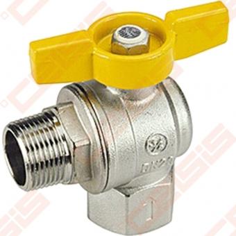 """Žalvarinis chromuotas (matinis) GIACOMINI R781 rutulinis ventilis dujoms Dn1/2"""""""