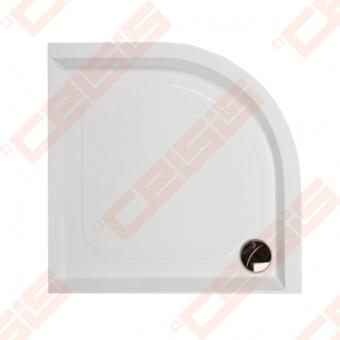 Dušo padėklas PAA CLASSIC 100x100 su panele ir kojelėmis, baltas (radius 550)