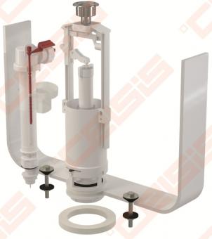 Komplektas - nuleidimo ir apatinio pripildymo mechanizmai ALCA PLAST su stop mygtuku