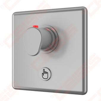 Bekontaktis potinkinio dušo maišytuvas SANELA su piezo sistema ir temperatūros reguliavimo rankenėle, 9V