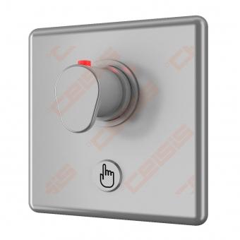 Bekontaktis potinkinio dušo maišytuvas SANELA su piezo sistema ir termostatine temperatūros reguliavimo rankenėle, 24V