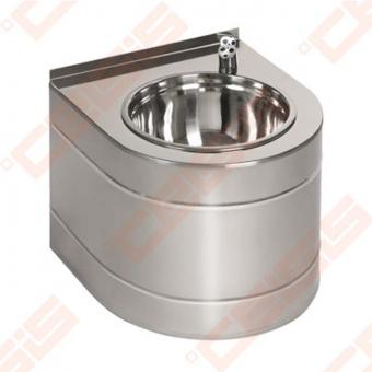 Nerūdijančio plieno geriamo vandens fontanėlis SANELA, pakabinamas, su integruota elektronika, maitinimas 6V baterija
