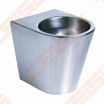 Pastatomas nerūdijančio plieno unitazas SANELA, antivandalinis