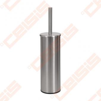 Nerūdijančio plieno unitazo šepečio laikiklis su šepečiu SANELA 120x260 mm, pakabinamas, matinis