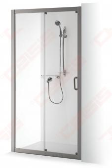 Dušo sienelė Brasta Glass SVAJA 1407 mm (baltas / pilkas)
