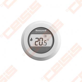 Apvalus patalpos temperatūros jutiklis su LCD ekranu. Temperatūros nustatymas 5- 30°C