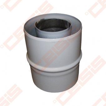Nerūdijančio plieno jungtis dūmtraukio praplatinimui JEREMIAS TWIN182 Dn60/100 -> 80/125