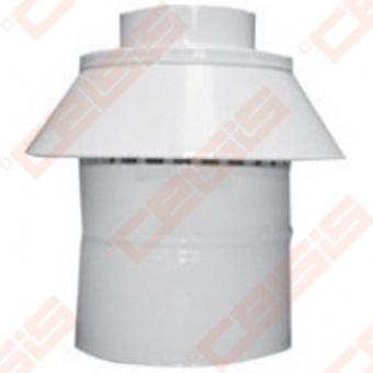 Vertikalus nerūdijančio plieno dūmtraukio antgalis su ortakiu JEREMIAS TWIN35B Dn60/100