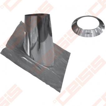 Nerūdijančio plieno 16 - 25° perėjimas per stogą (švino plokštė) JEREMIAS TWIN59 Dn60/100