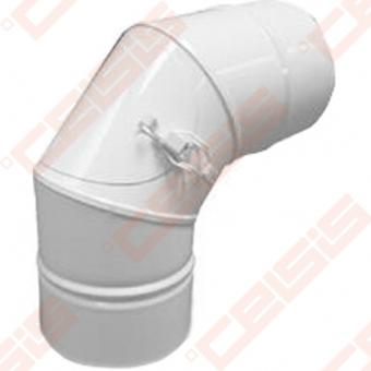 Nerūdijančio plieno 90° alkūnė su pravala ir ortakiu JEREMIAS TWIN67 Dn60/100
