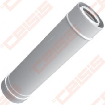 Cinkuoto plieno ir polipropileno dūmtraukis JEREMIAS TWIN-PL14 Dn80/125x0,5m