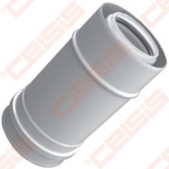 Cinkuoto plieno ir polipropileno dūmtraukis JEREMIAS TWIN-PL15 Dn60/100x0,25m