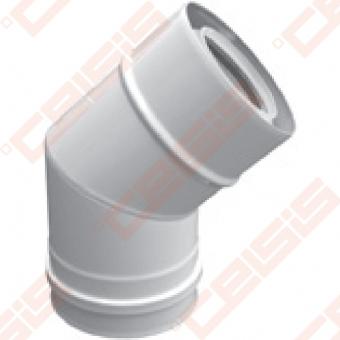 Cinkuoto plieno ir polipropileno 45° alkūnė JEREMIAS TWIN-PL182 Dn60/100
