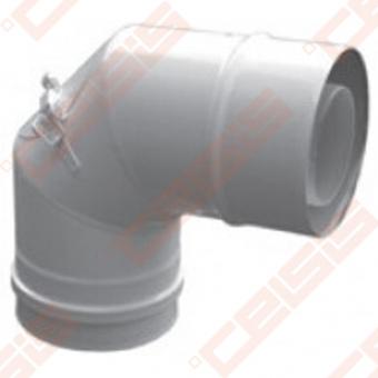 Cinkuoto plieno ir polipropileno 90° alkūnė su pravala JEREMIAS TWIN-PL19 Dn60/100