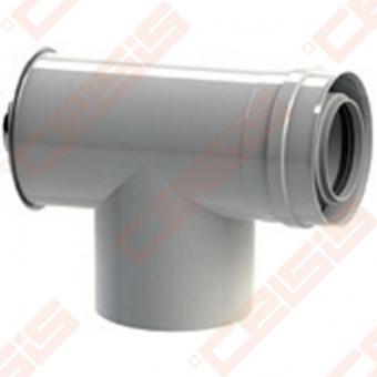 Cinkuoto plieno ir polipropileno 90° pravala-trišakis JEREMIAS TWIN-PL308 Dn60/100