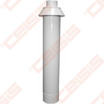 Cinkuoto plieno ir polipropileno dūmtraukis su vertikaliu antgaliu JEREMIAS TWIN-PL358 Dn80/125x0,75m