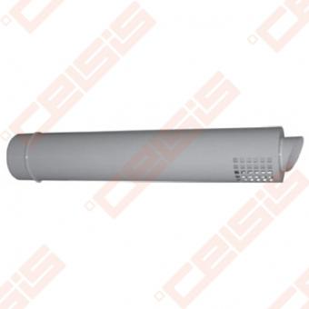 Cinkuoto plieno ir polipropileno dūmtraukis su horizontaliu antgaliu JEREMIAS TWIN-PL36 Dn80/125x0,75m