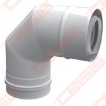 Cinkuoto plieno ir polipropileno 90° alkūnė JEREMIAS TWIN-PL60 Dn80/125