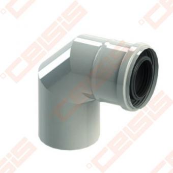 Cinkuoto plieno ir polipropileno 90° alkūnė JEREMIAS TW-PL64 Dn60/100